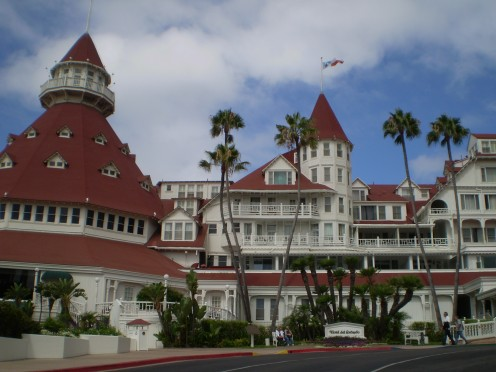 The Hotel del Coronado in Coronado California.