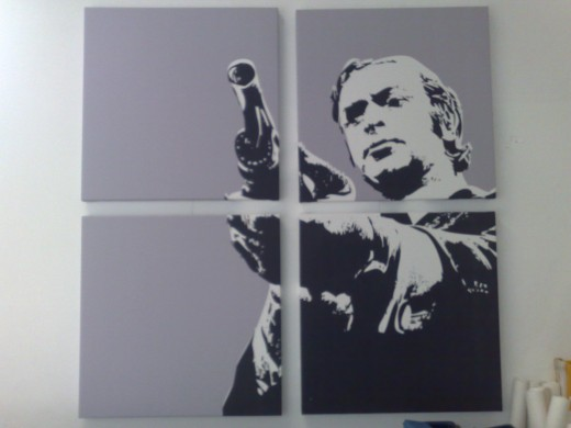 "(Quad-pic of Get Carter, 4x 24""x24"")"