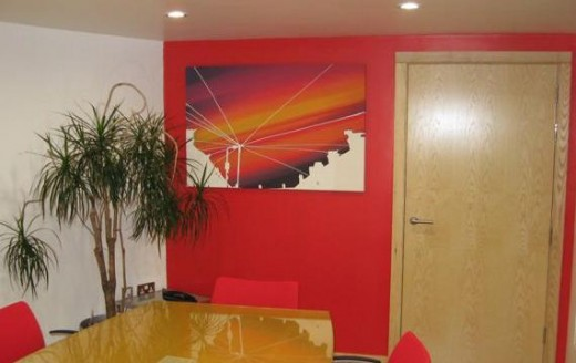 (perfect colour match in this interior office space)