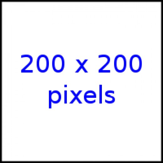 A two hundred by 200 hundred pixel square Image Credit: Wikipedia