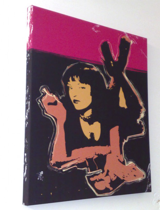 (Sleek black and vibrant pink work well on this cult classic)