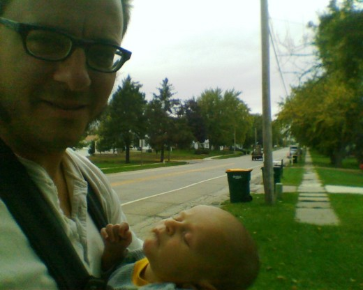 Hangin' with the newborn where the sidewalk ends...
