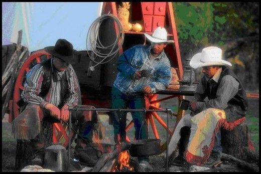 Cowboys come in groups of few or many