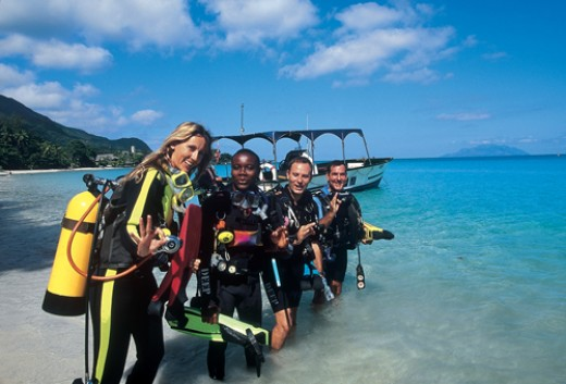 After a training session, it's off to the reef for your first underwater adventure