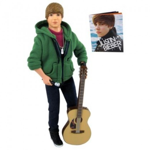 "Justin Bieber doll that sings ""One Less Lonely Girl"""