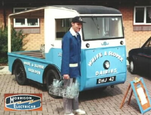 Traditional British Battery-Powered Milk Float