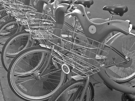 Velib' Bike Rental, Paris