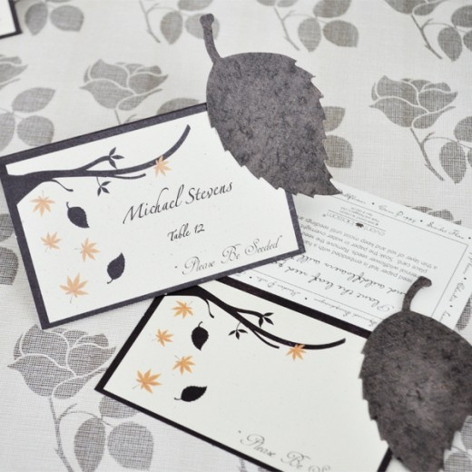 Fall Wedding Favors (seeded place cards)