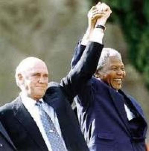 FW de Klerk and Nelson Mandela (1993)