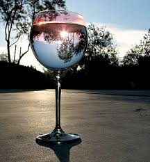 1st glass of wine