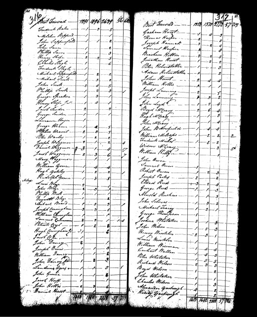 1790 US Census, North Carolina. My Younce family is listed on this page.