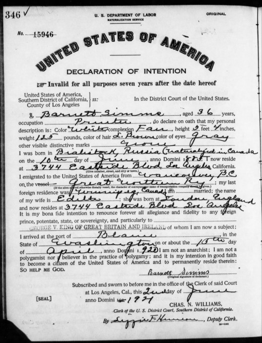 My Great grandfather's declaration of intent, It shows the exact place he was born and his spouse and children along with birth dates and places.