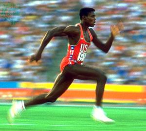 Carl Lewis Sprinting