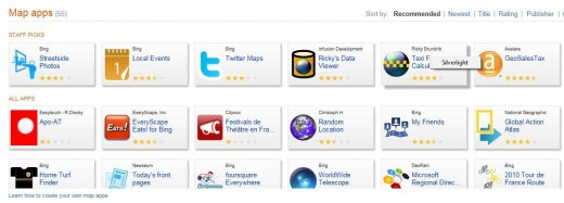 bing map apps