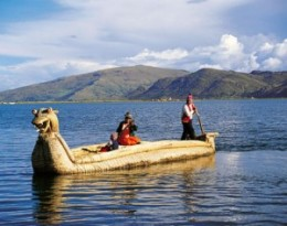 The Inca are noted for their reed boats in which they ply Lake Titicaca.