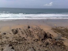 Sandymouth Beach from the Cliff Path above