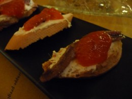 robiola cheese, anchovies & red pepper jam
