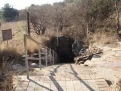 Approaching the entrance of one of the caves
