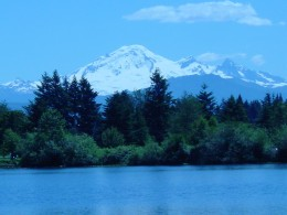 Mt. Baker-view from the lake