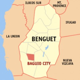 map of Baguio City