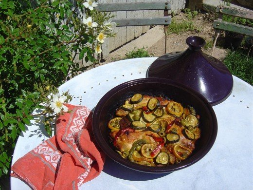 Chicken tajine for that exotic touch. (Not our chickens either)