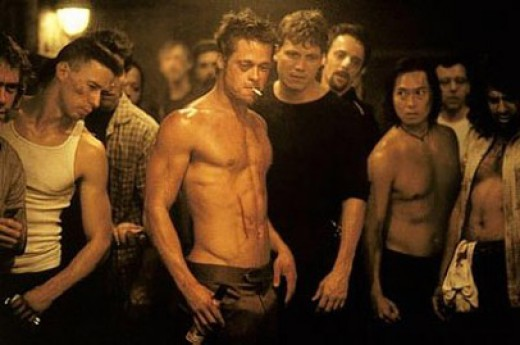 Brad Pitt is Tyler Durden in Fight Club