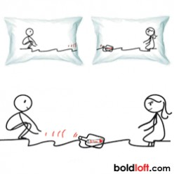 BoldLoft We Are Connected Couple Pillowcases