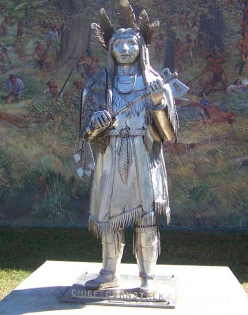 Statue of Chief Cornstalk, Point Pleasant, WV