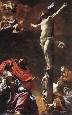 """The Crucifixion"" - by Vouet (1622) - Genoa"