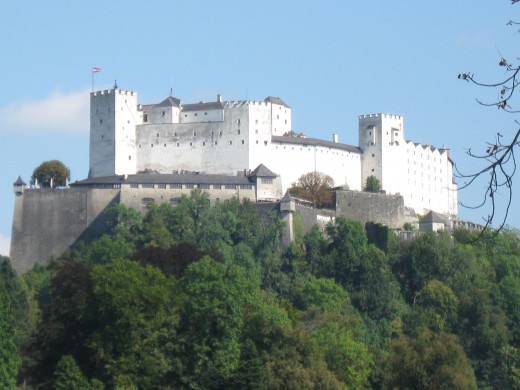 Monastery turned Fortress turned Castle overlooking Salzburg, Austria that reminds me of my castle