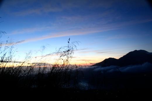 Sunrise at Volcanic  Mount Batur,  Bali, Indonesia