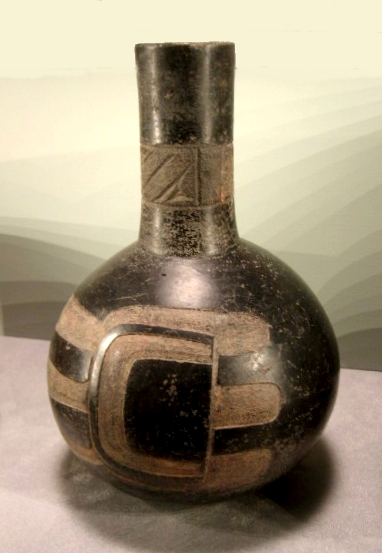 The Olmec were also expert potters as demonstrated in this bottle.