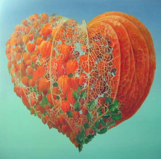 Having a heart of, Thanksgiving!  This artwork if beautiful, to be featured with this writing:)  Thank you Piere Marcel, found on flickr.com