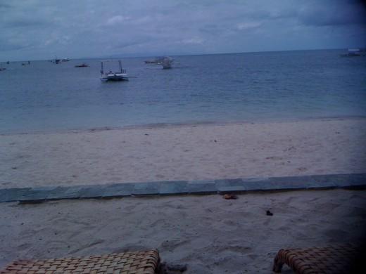 Beach fronting Linaw Resort