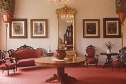 An inside view of Queen Emma Summer Palace