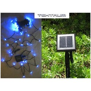 Tektrum 82 ft-long 150 Blue LED Two-in-One Solar String Fairy Lights Outdoor (set of 2)