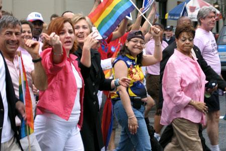 A gay pride parade.