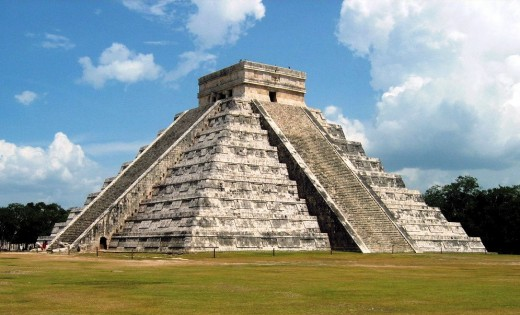Kukulcan, the main temple at Chichen Itza, Photo by Kyle Simourd.