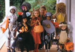 The only thing scary about these trick-or-treaters is the amount of candy they'll eat.