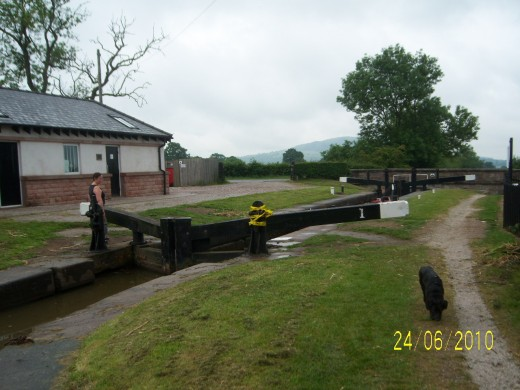 The amenities at Bosley Locks