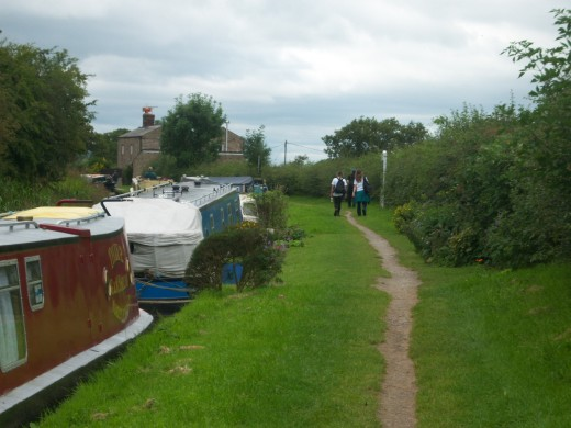 The approach to Bosley Locks