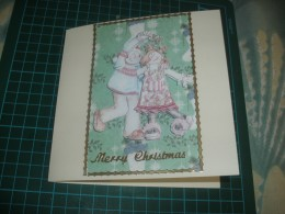Hand made card using decoupage technique