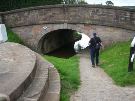 Bridge at start of Bosley Locks