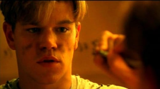 Matt Damon is Will Hunting in Good Will Hunting