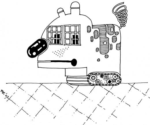 RoboDog with WindowPane Eyes