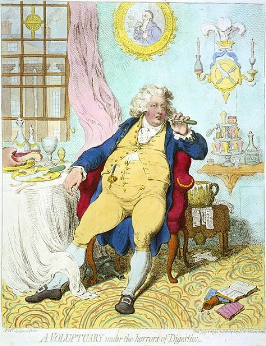 A Voluptuary by James Gillray. Courtesy of Library of Congress.