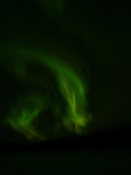 The northern lights appeared as Alien