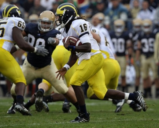 "2010 Heisman Hopeful-Denard ""Shoelace"" Robinson-Michigan Quarterback"