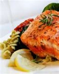Salmon is very good food source for you, it rich in fatty acids that is healthy for the body.