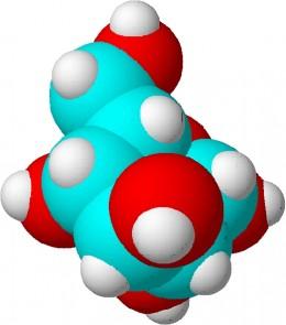 A glucose molecule.